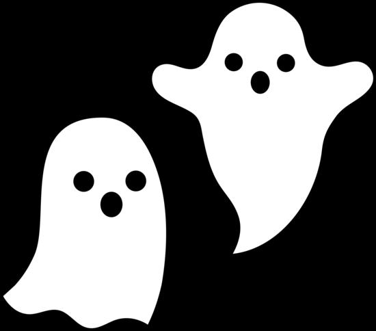 Simple Spooky Halloween Ghosts.