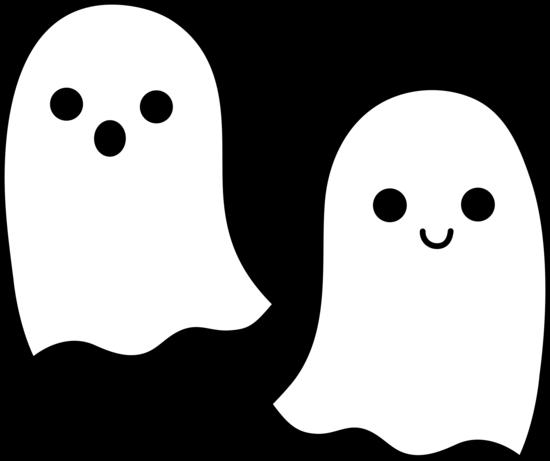 Cute Simple Halloween Ghosts.
