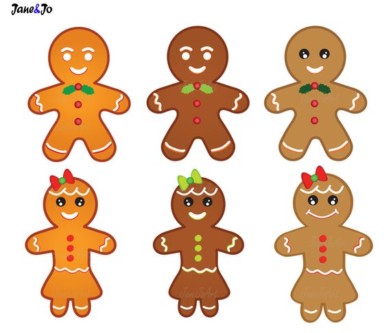 30 Gingerbread Clipart,Gingerbread cliparts,Christmas Gingerbread.