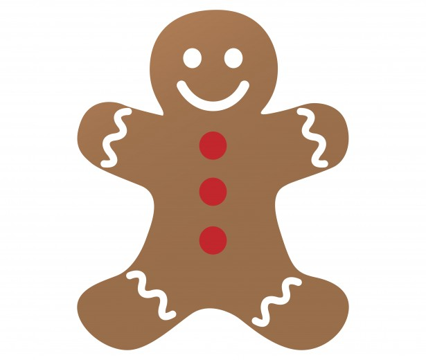 Gingerbread Man Clipart Free Stock Photo.