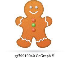 Gingerbread Man Clip Art.