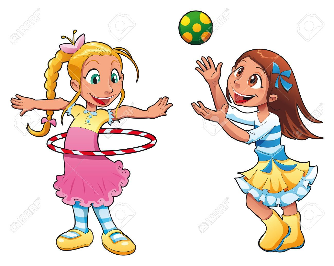 Two girls playing clipart 5 » Clipart Portal.