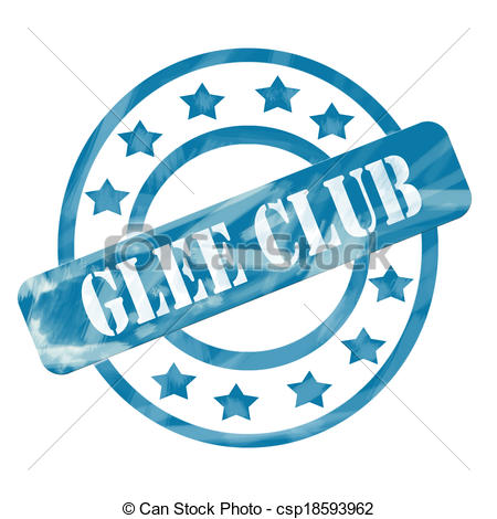 Blue Weathered Glee Club Stamp Circles and Stars.