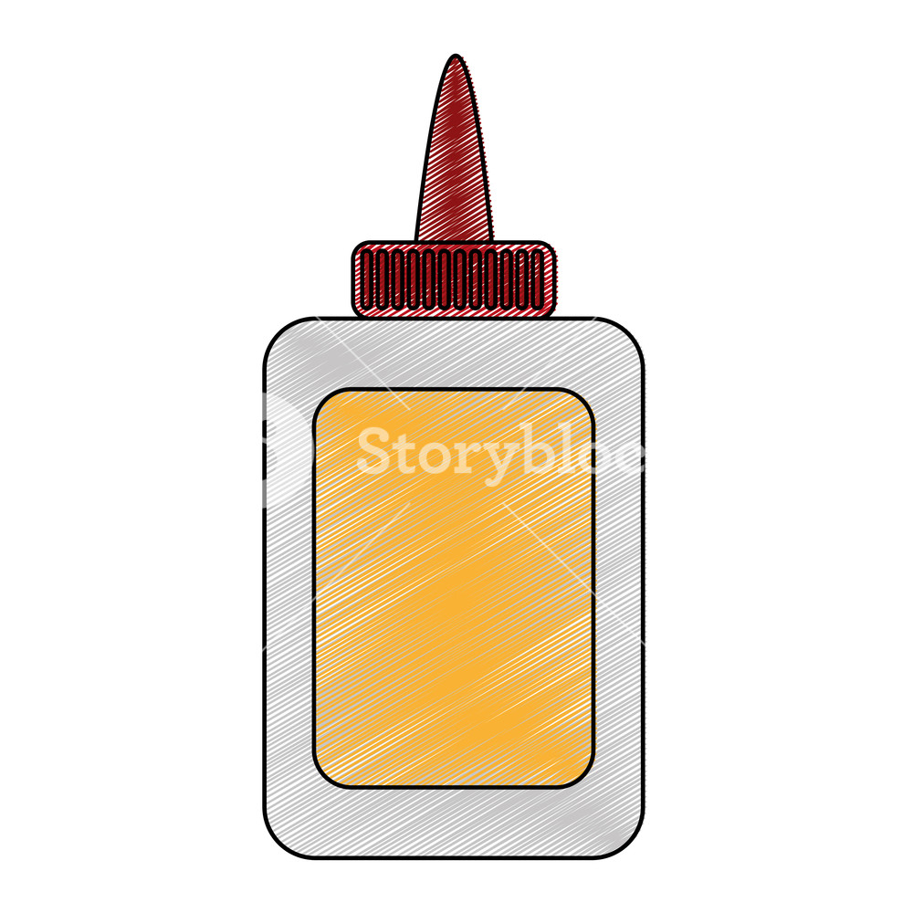 Glue bottle of stick adhesive and paper theme Isolated design Vector.