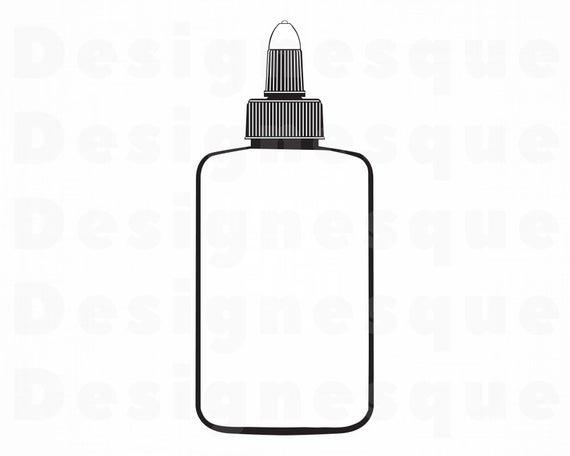 Glue SVG, School Supplies Svg, Glue Bottle SVG, Glue Clipart, Glue Files  for Cricut, Glue Cut Files For Silhouette, Glue Dxf, Glue Png, Eps,.
