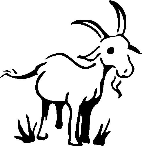 goat drawing vintage clipart free.