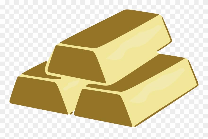 Metal Clipart Gold Brick.