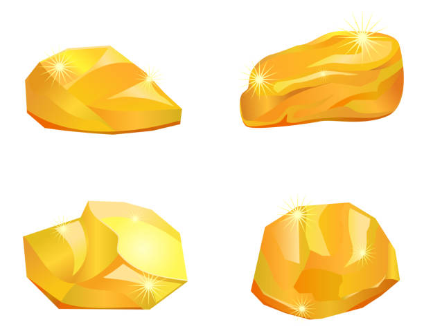 Best Gold Nuggets Illustrations, Royalty.