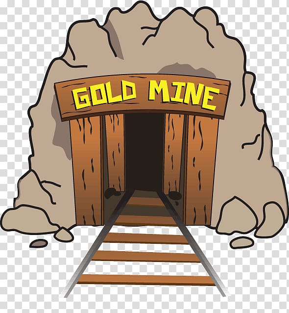 Gold mine , Gold mining Coal mining, mines transparent background.