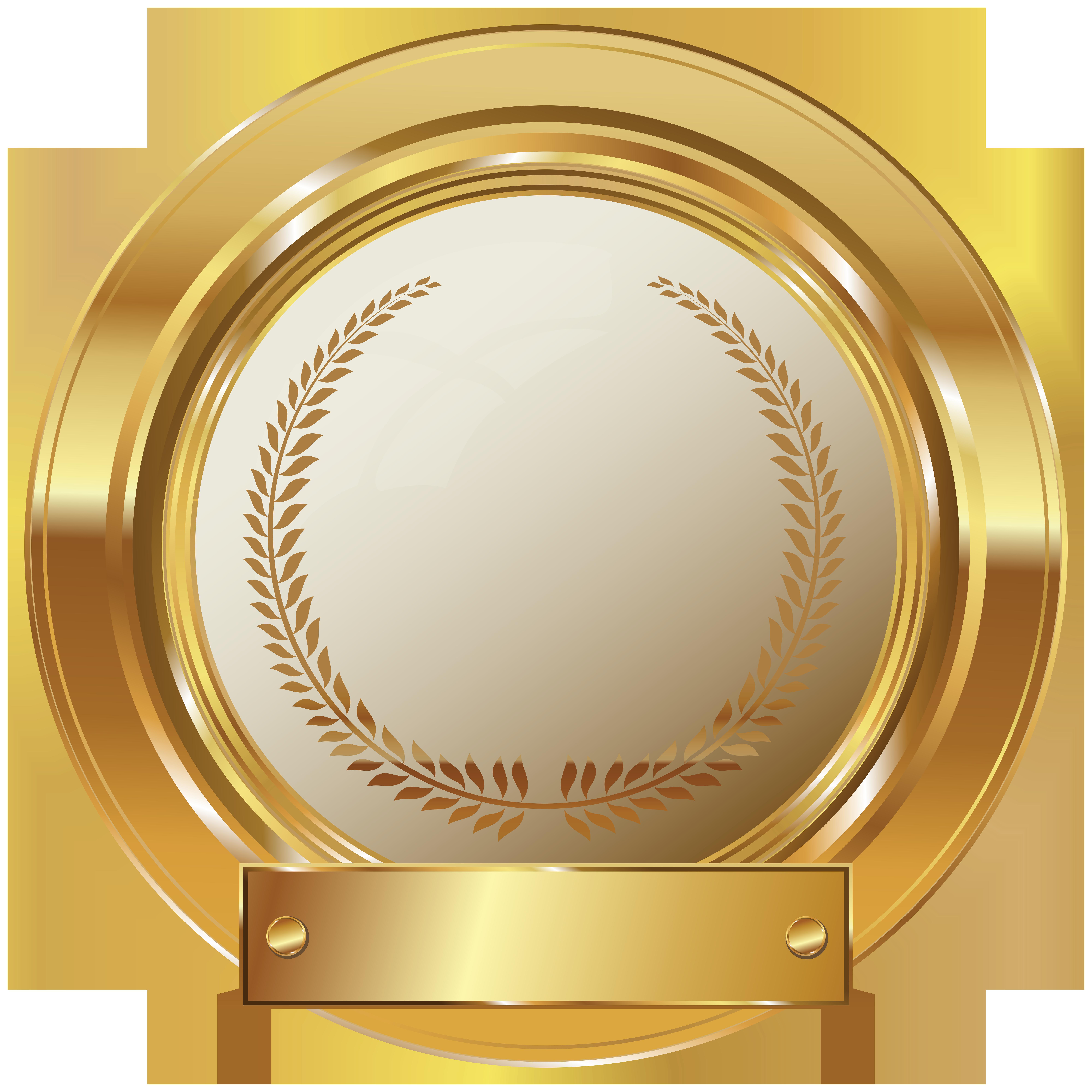 Gold Seal PNG Clip Art Image.