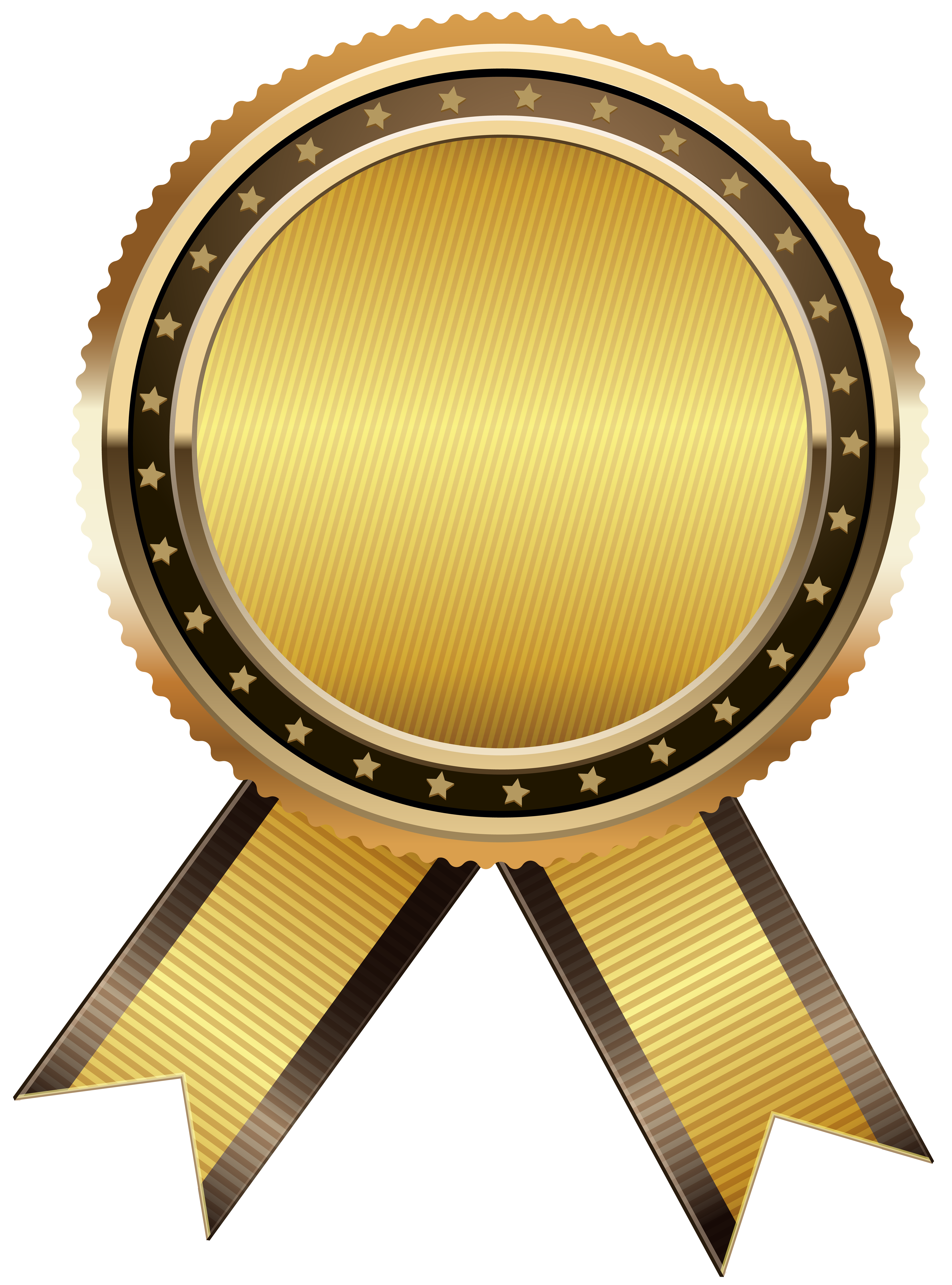 Gold Seal Free PNG Clip Art Image.