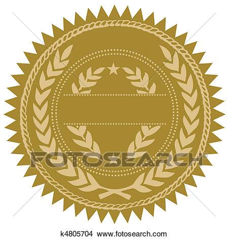 Vector Gold Seal Clipart.