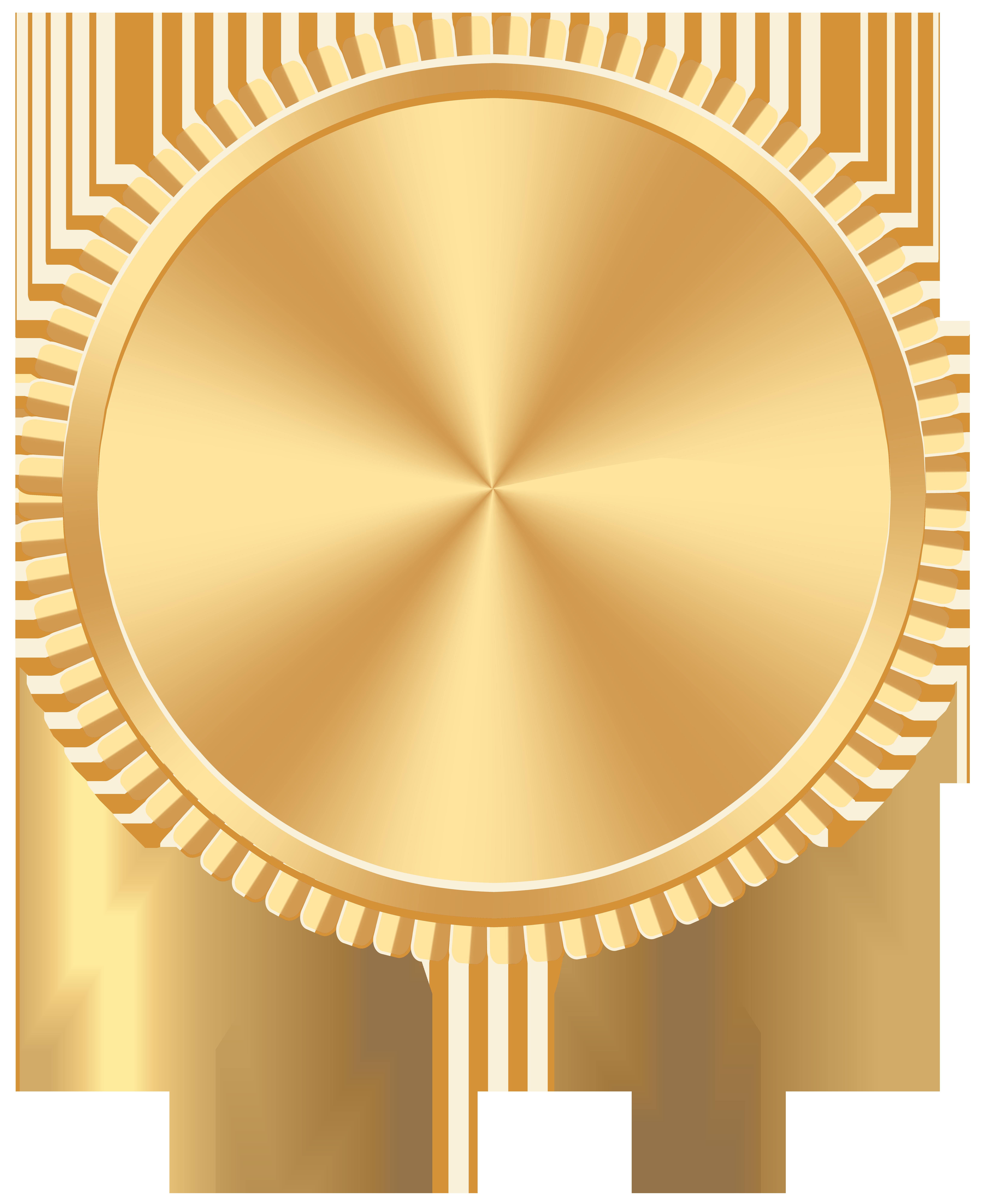 Gold Seal Badge PNG Clip Art Image.