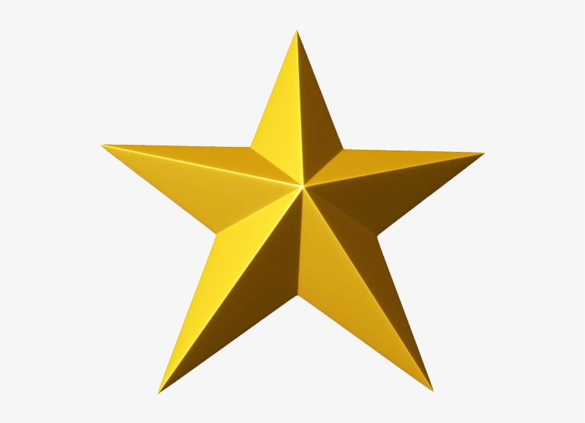 3d Gold Star Png Clipart.