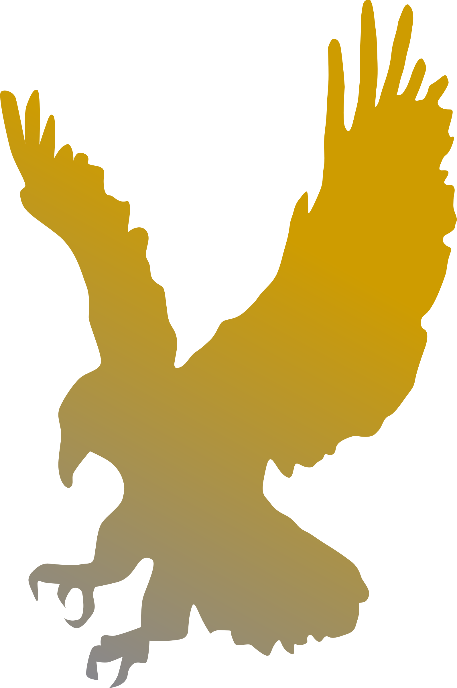 Golden Eagle Vector Clipart image.