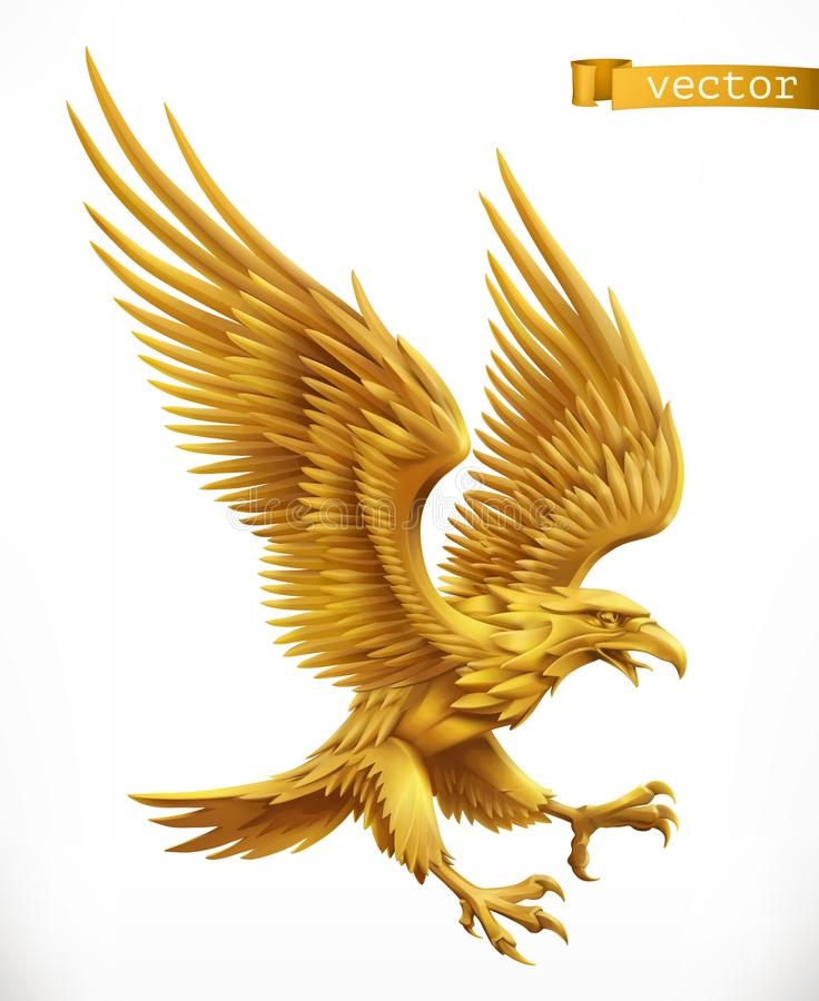 Eagle Gold Stock Illustrations.