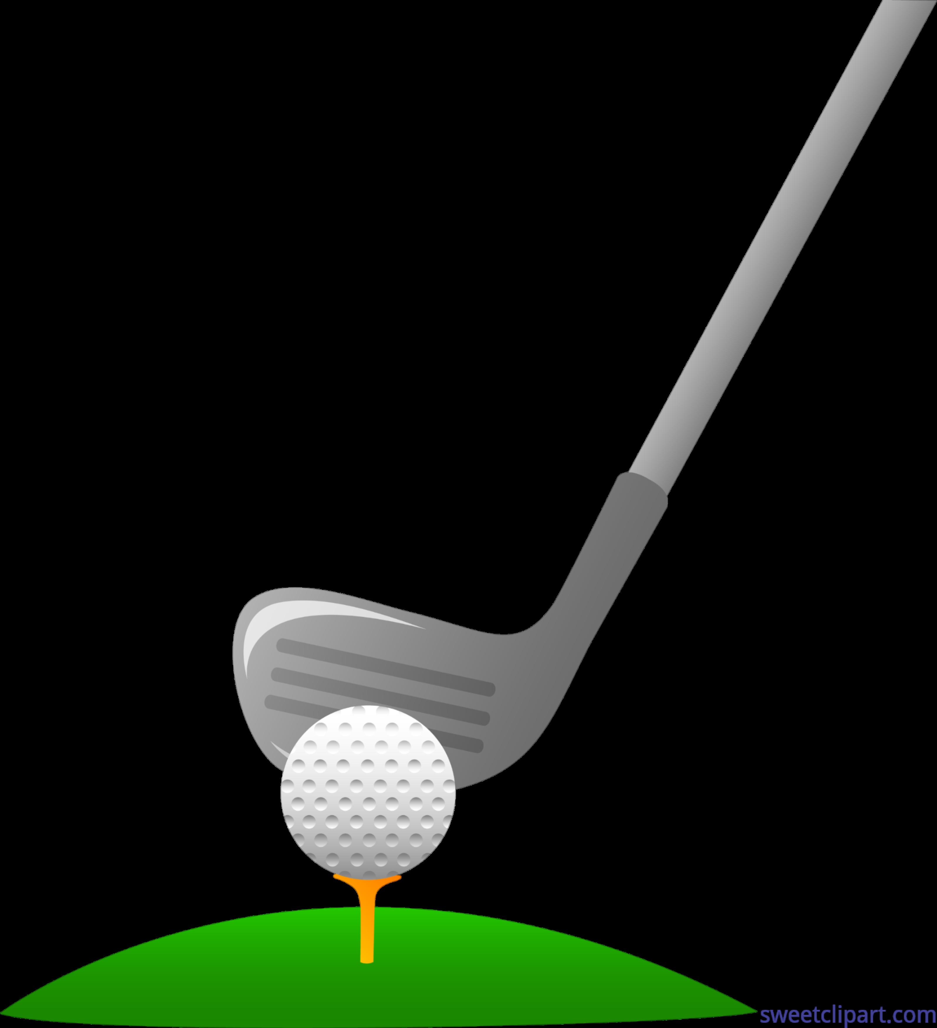 Golf Club And Ball 1 Clip Art.