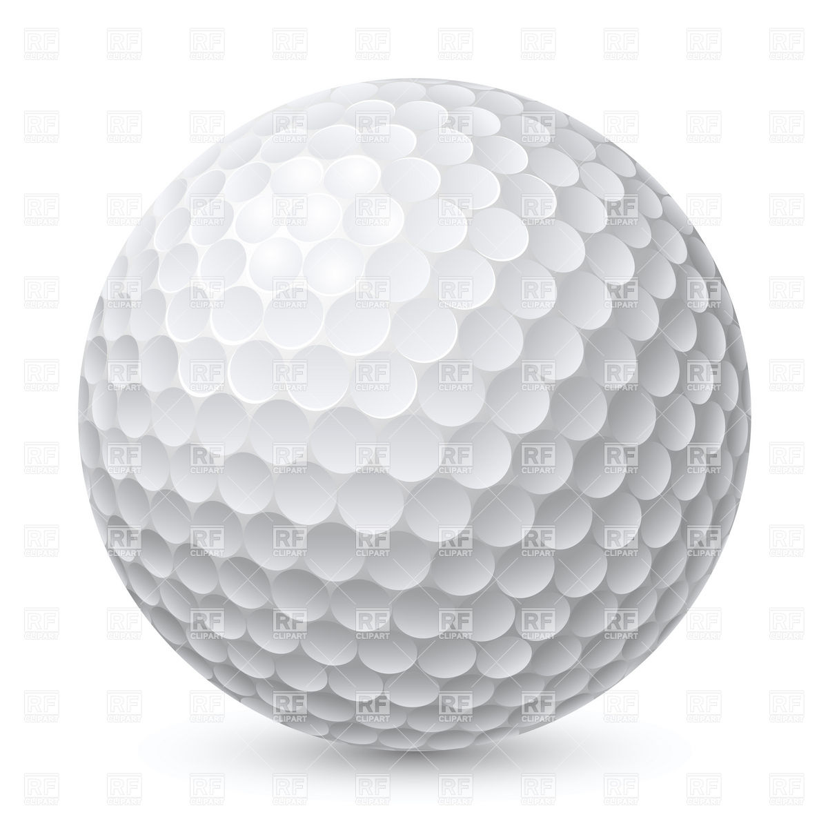 Golf ball Stock Vector Image.
