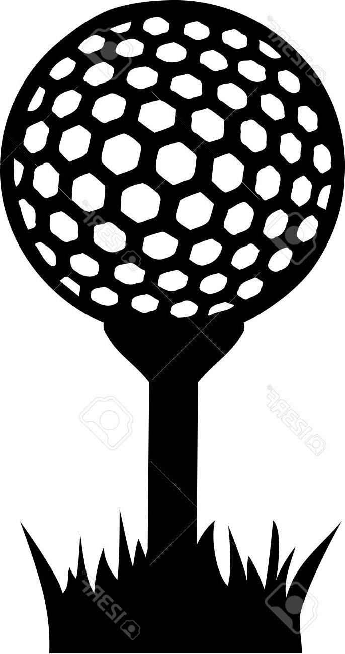 Golf Ball On Tee Clipart.