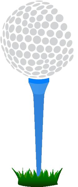 Golf Ball Blue Tee Clip Art at Clker.com.