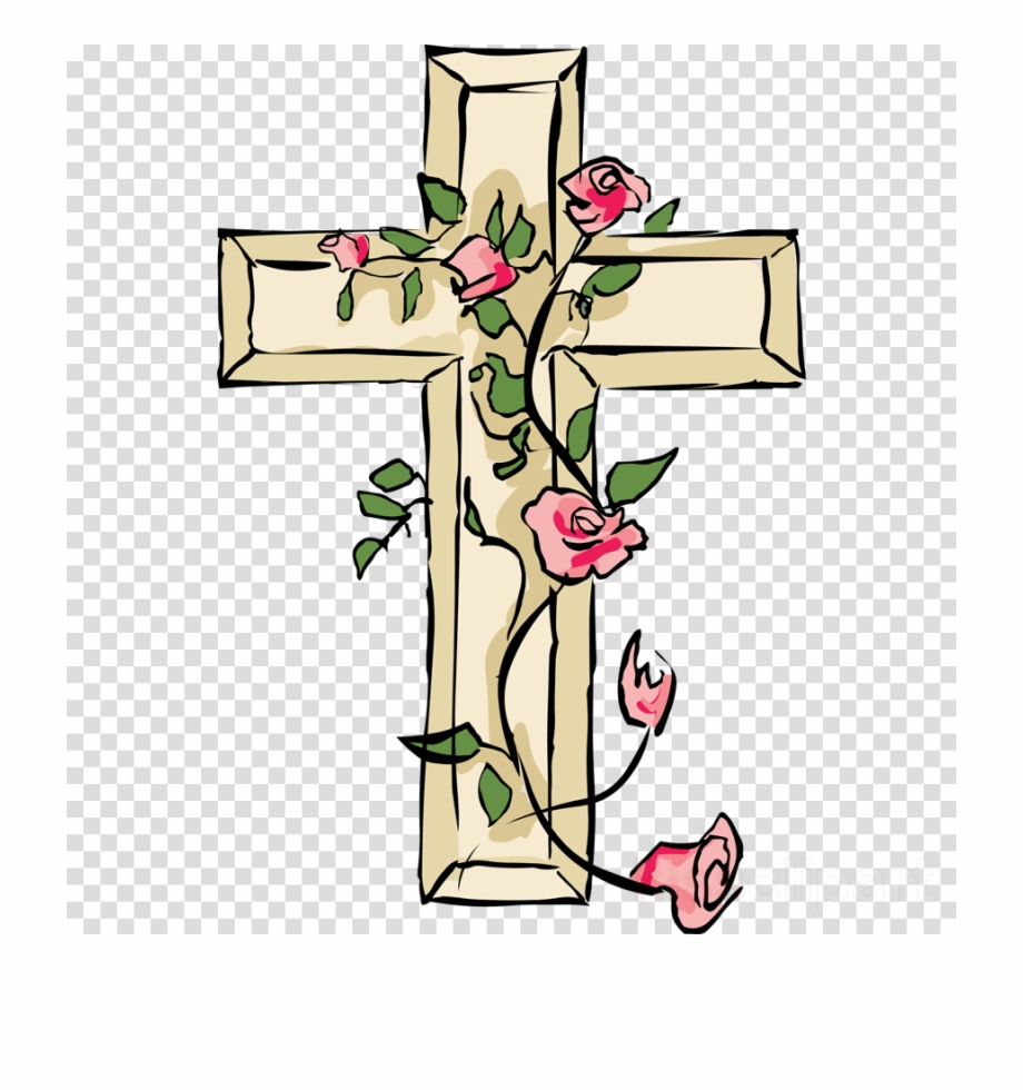 Beautiful Easter, Flower, Cross, Transparent Png Image.