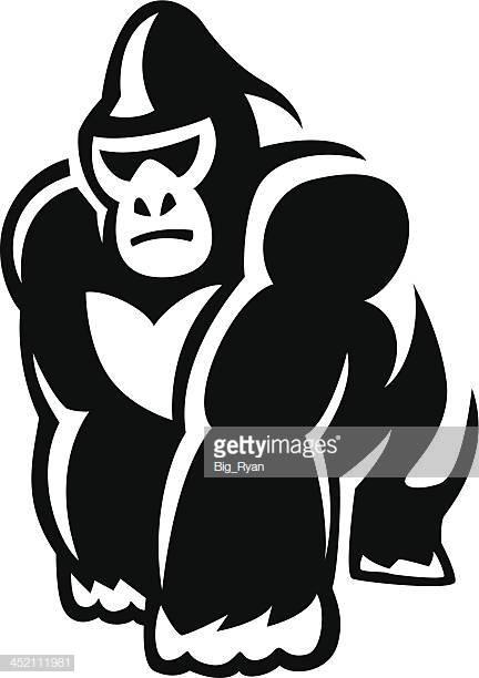 34 Silverback Gorilla Stock Illustrations, Clip art, Cartoons.
