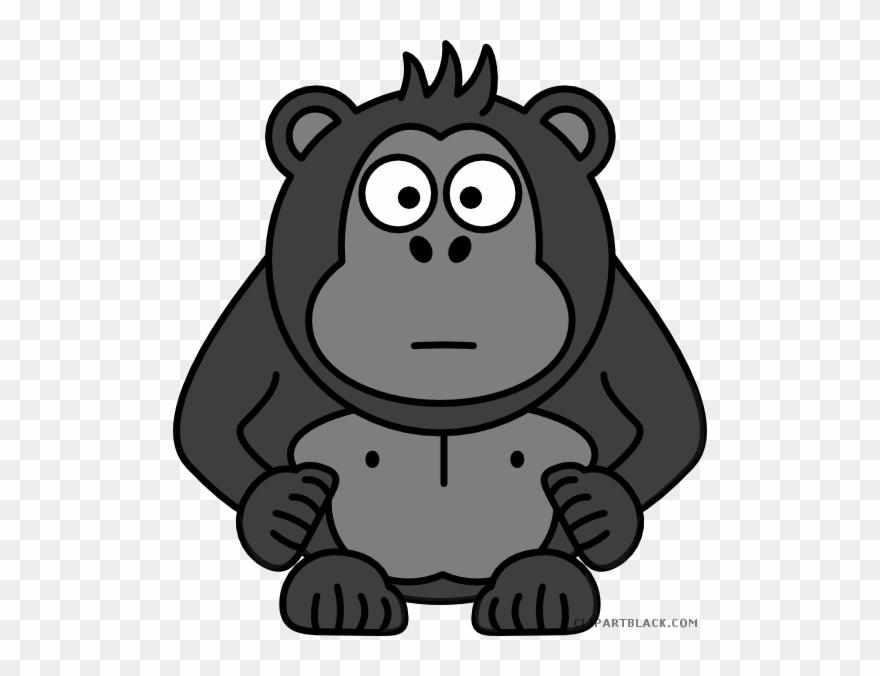 Black And White Library Clipart Gorilla.