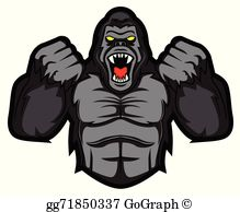 Gorilla Clip Art.