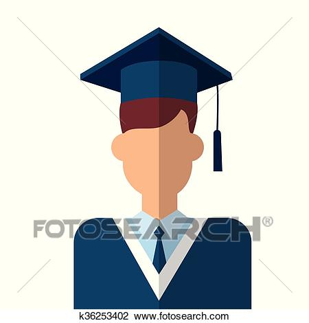Graduate Student Icon Graduation Gown Clipart.