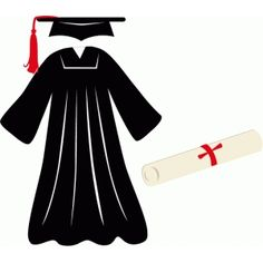 Graduation gown clipart 3 » Clipart Station.