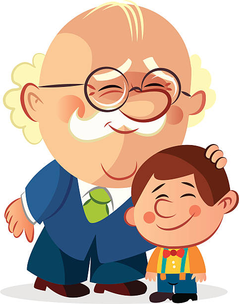 Best Grandfather And Grandson Illustrations, Royalty.