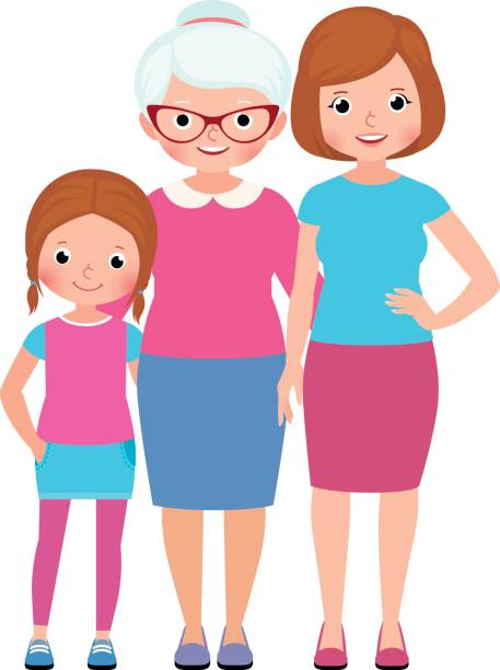 Top 60 Grandmother Mother Daughter Clip Art, Vector Graphics and.