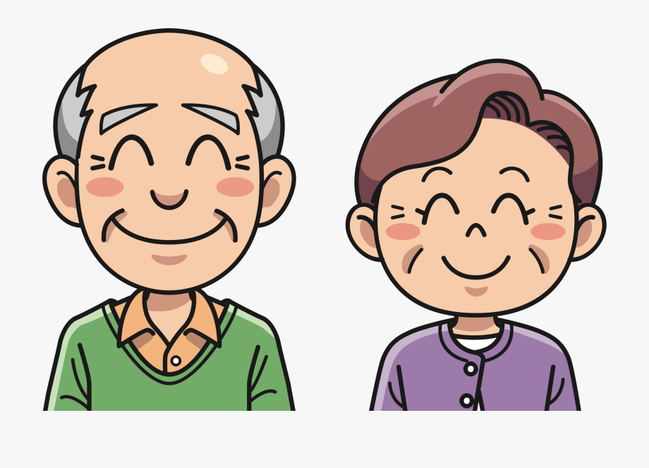 Grandpa Clipart Happy Old Couple.