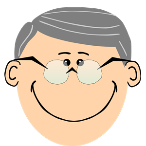 Grandpa with spectacles clipart, cliparts of Grandpa with spectacles.