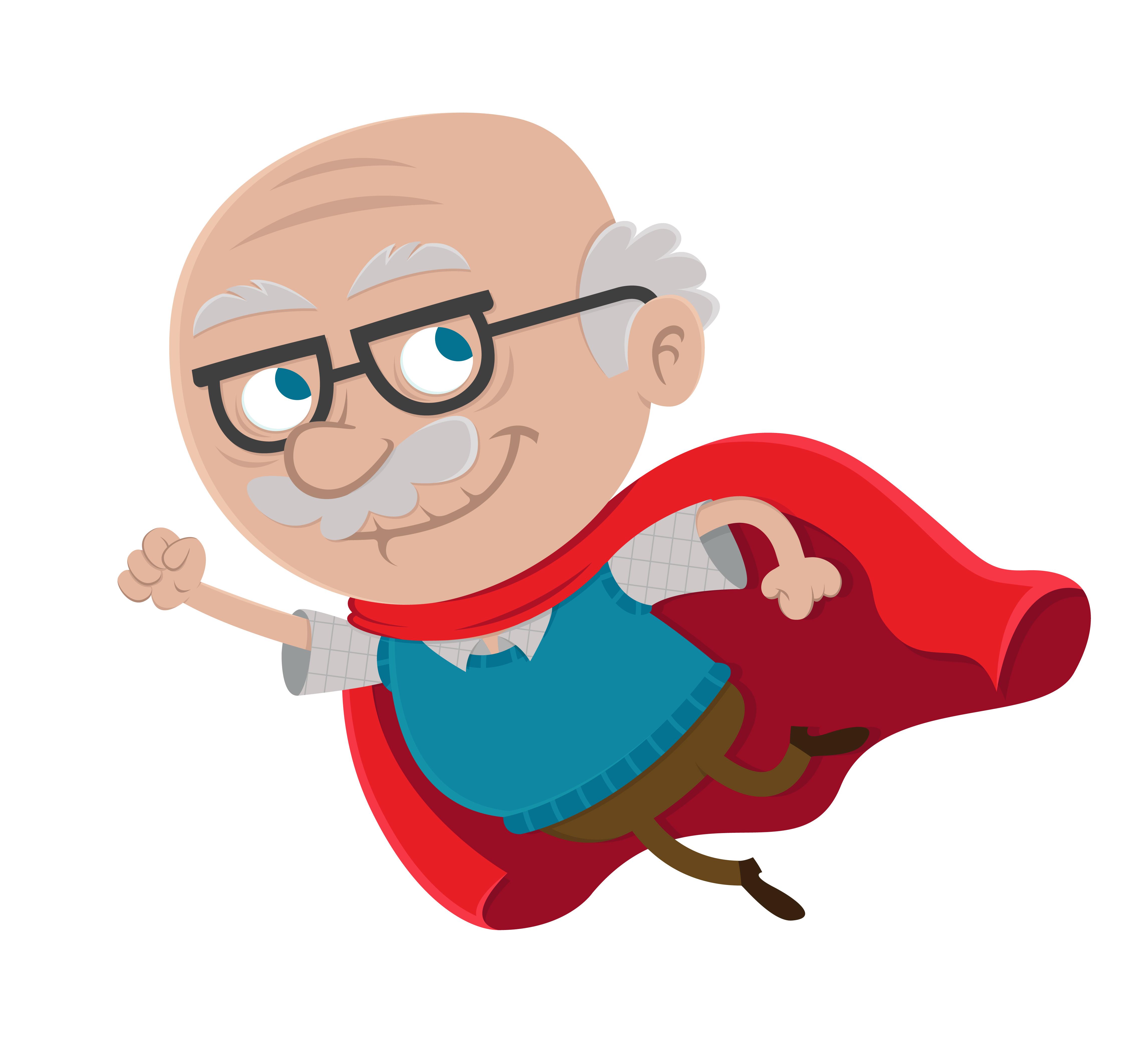 Cartoon Grandpa Clipart.
