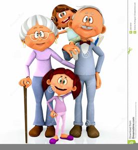 Free Clipart Grandparents With Grandchildren.