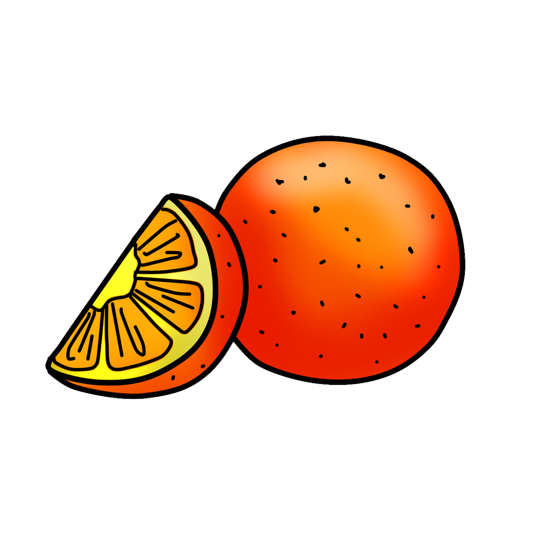 Orange Clipart Graphic PNG Download.
