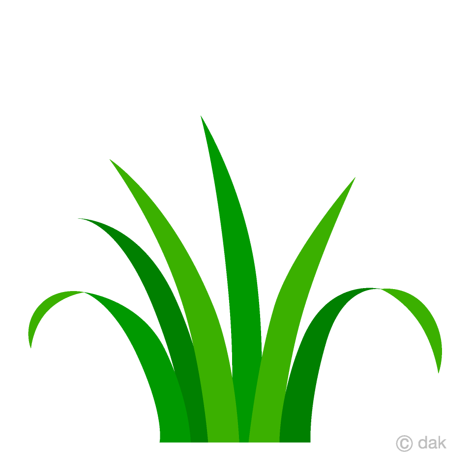 Simple Grass Clipart Free Picture|Illustoon.
