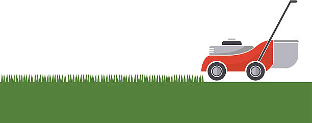 Best Lawn Mowing Illustrations, Royalty.
