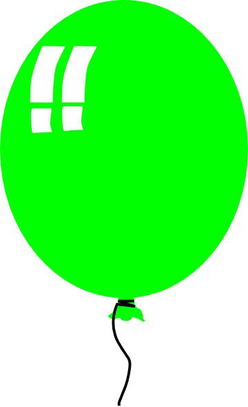 Green Helium Baloon clip art (115742) Free SVG Download / 4 Vector.