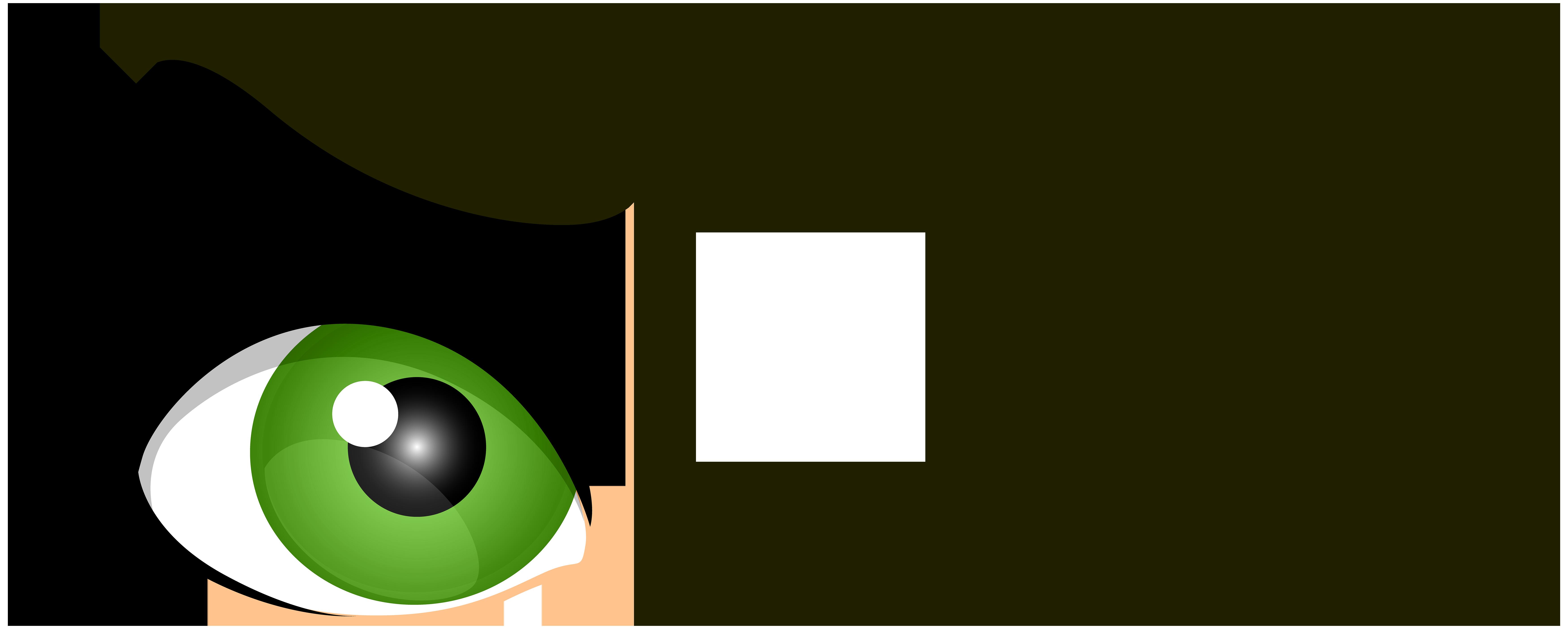 Green Winking Eyes PNG Clip Art.