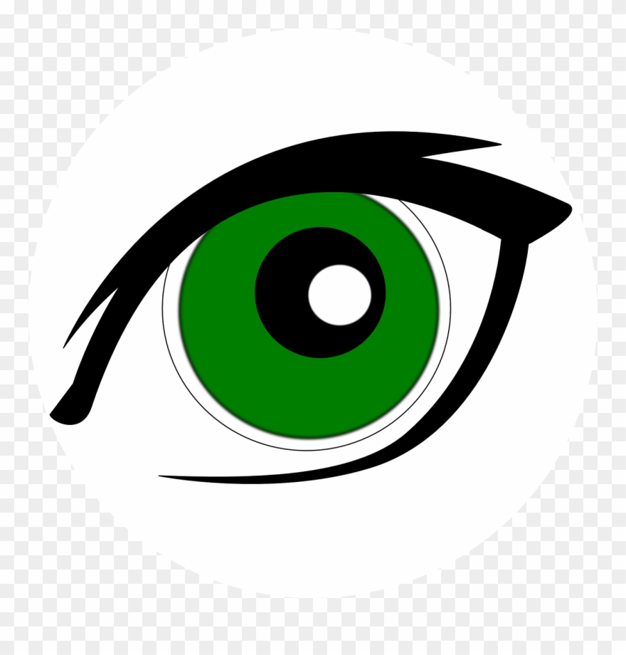 Clip Art Green Eye.