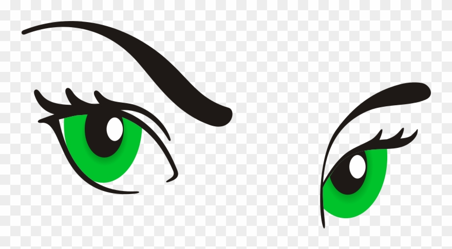 Green Eyes Clipart Eyebrow.