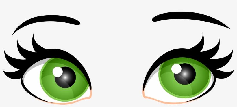 Green Female Eyes Png Clip Art.
