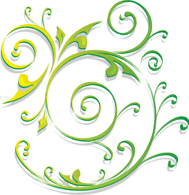 Green Swirls Clipart Microsoft Word.