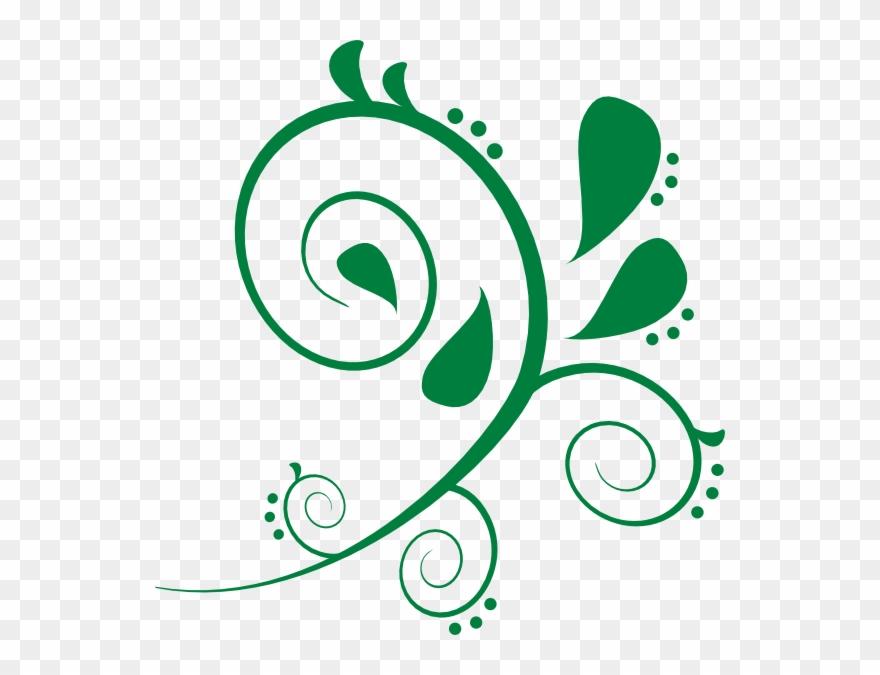 Green Swirls Clip Art.