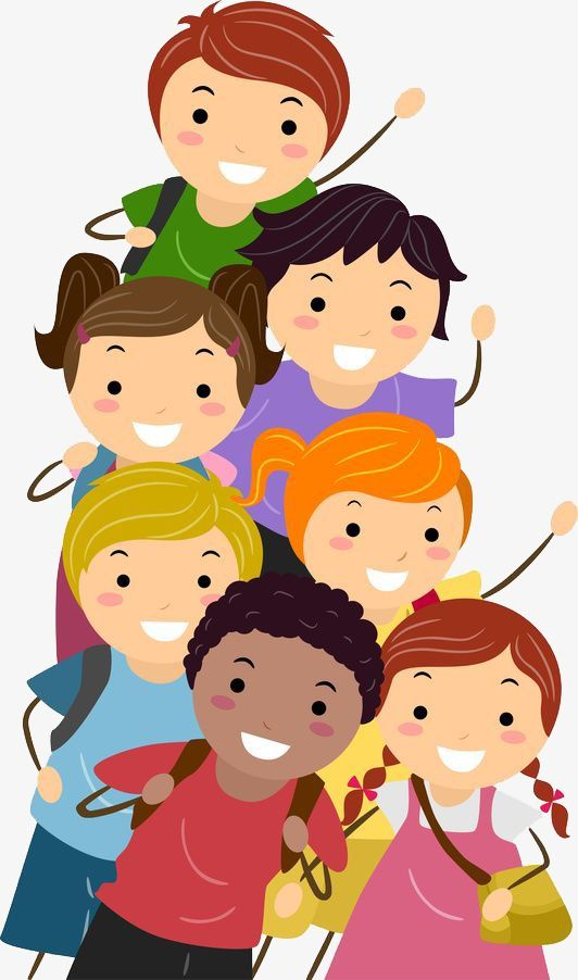 Group Of Children, Children Clipart, Creative, Cartoon PNG.