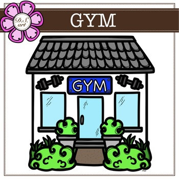 Gym digital Clipart (color and black&white).
