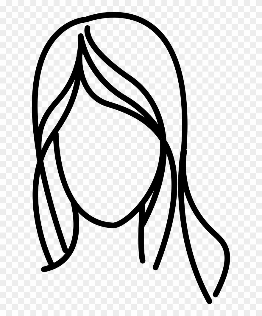 Black Hair Clipart Hair Outline.