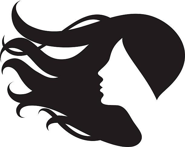 Best Woman Hair Illustrations, Royalty.